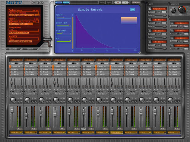 Set your levels using the built-in mixer.