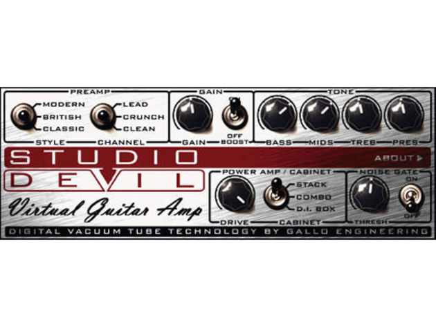 Virtual Guitar Amp's interface is as simple as it could be.