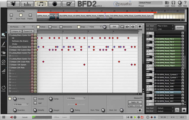 Beats can be programmed in a familiar looking editor.