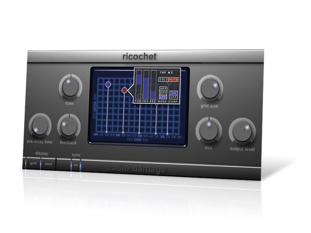 Ricochet puts you in control of five delay lines.