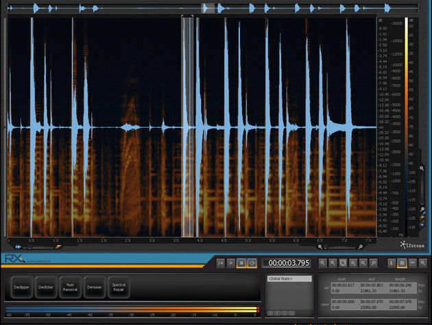 The display defaults to the standard waveform view.