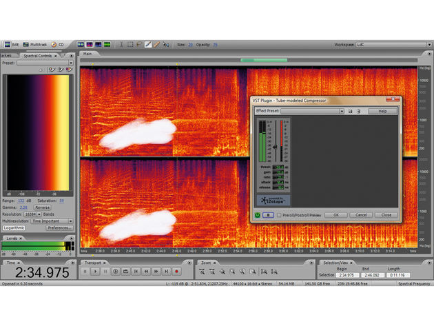The Spectral Frequency Display in the Edit view is useful.