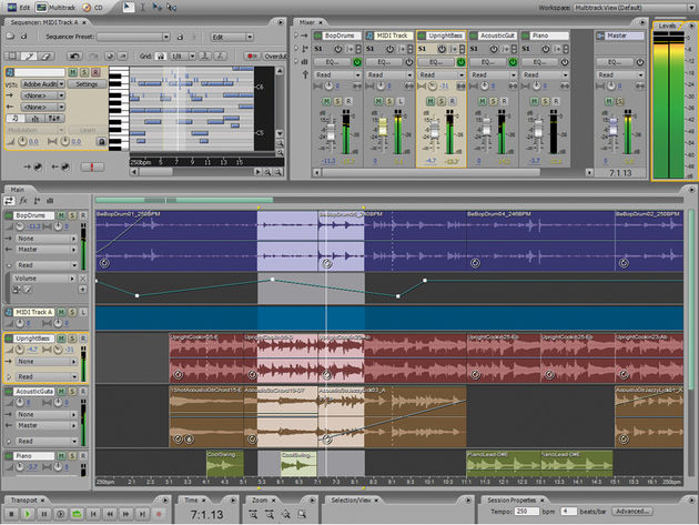You can now add MIDI parts in the Multitrack view.