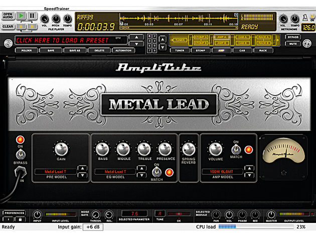 It's not as versatile as some of the other AmpliTube products, but Metal still sounds great.