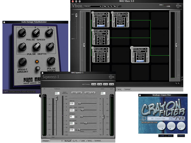 You can combine multiple plug-ins using Vbox.