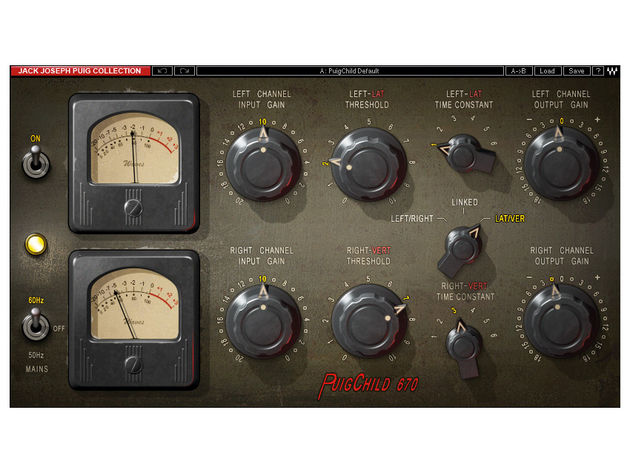 The PuigChild 670 is a stereo compressor.