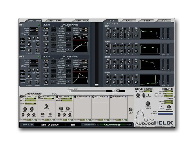 Helix gives you four oscillators to play with.