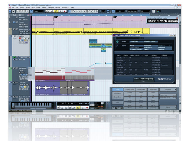 Cubase 5 contains both major and minor tweaks.
