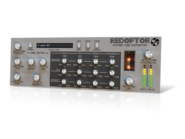 Redoptor is designed to look and sound like a piece of vintage hardware.
