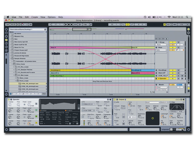 The Ableton Live 8 interface