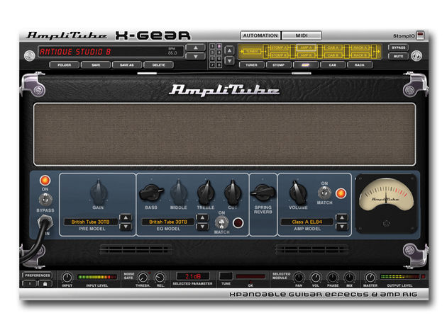 X-Gear enables you to combine units from across the AmpliTube range.