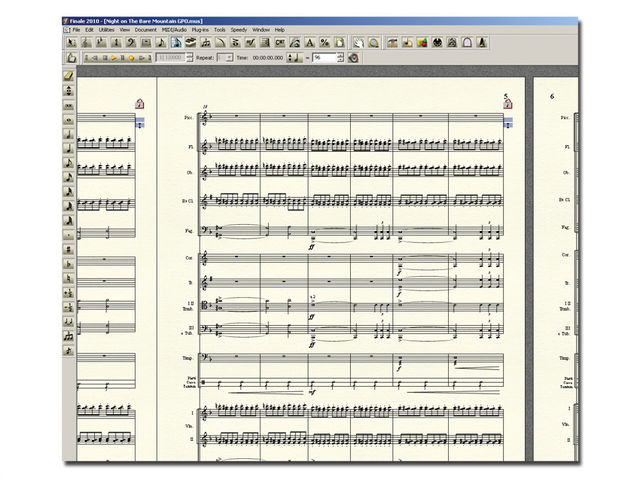 Finale 2010 enables you to produce better-looking scores than ever.