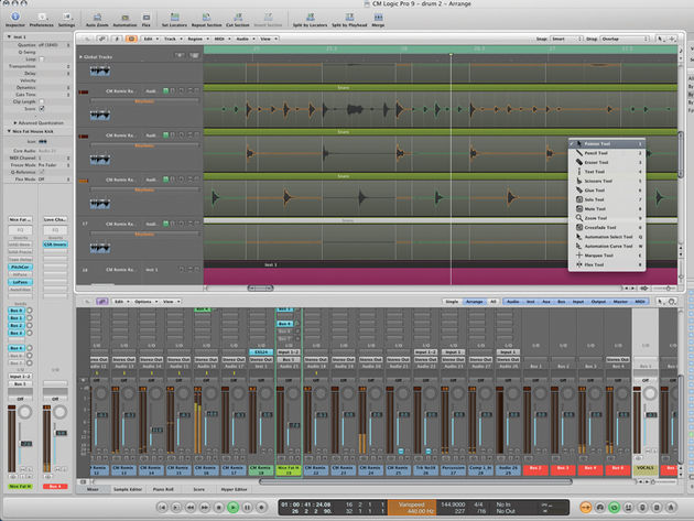 Logic Pro 9 retains its predecessor's look and feel.