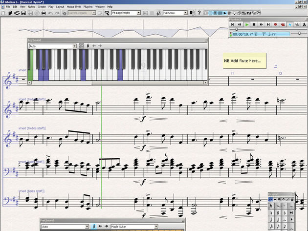 Sibelius 6: makes pro-quality score creation easier.