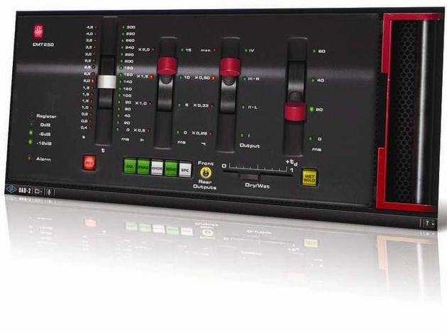The EMT 250's four levers control the parameters of the currently selected effect.