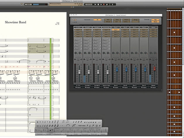 Notion 3 features band sounds as well as orchestral ones.