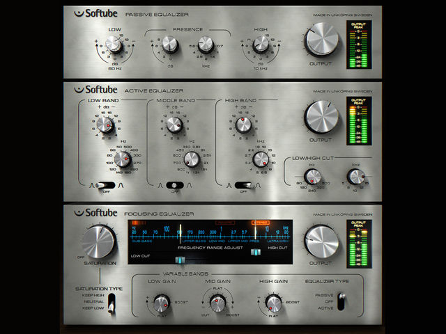 Softube's triple EQ bundle delivers classic looks and sound.