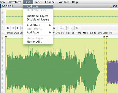 Audiofile engineering wave editor