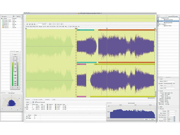Wave Editor isn't stuffed with processors, but it does support plug-ins.