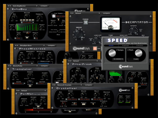 Meet the family: the complete SoundToys native collection.