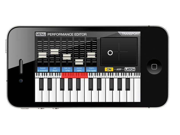 SynthStation lets you compose using three synth sounds and a drum machine.