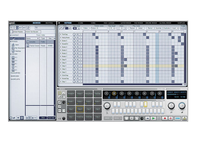Geist 'classic sequencer' style layout makes it an easy piece of kit to navigate.