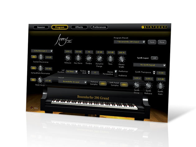 Ivory II's pianos are superb sounding and very playable.