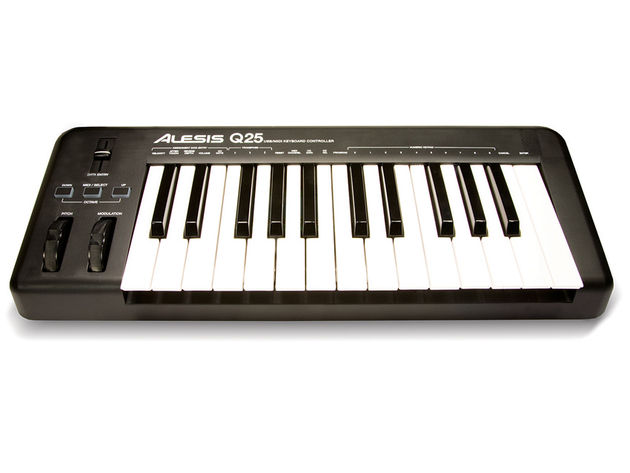 If you're looking for knobs, the Alesis Q25 won't satisfy you.