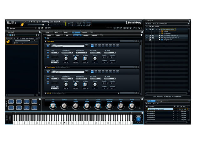 Think your keyboard is just for playing chords and melodies? Think again! HALion offers lots of ways to trigger articulations from incoming data.