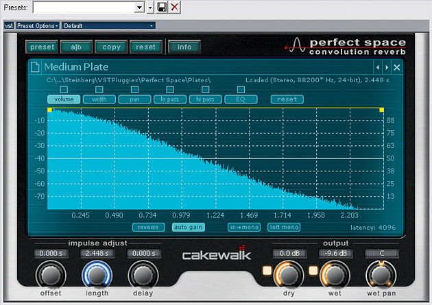 Perfect Space is a superior reverb plug-in.