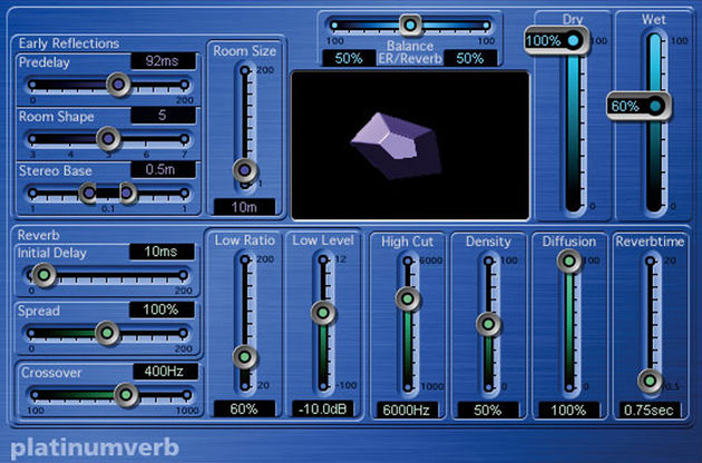 Platinumverb is an industry standard reverb. It comes free with Logic