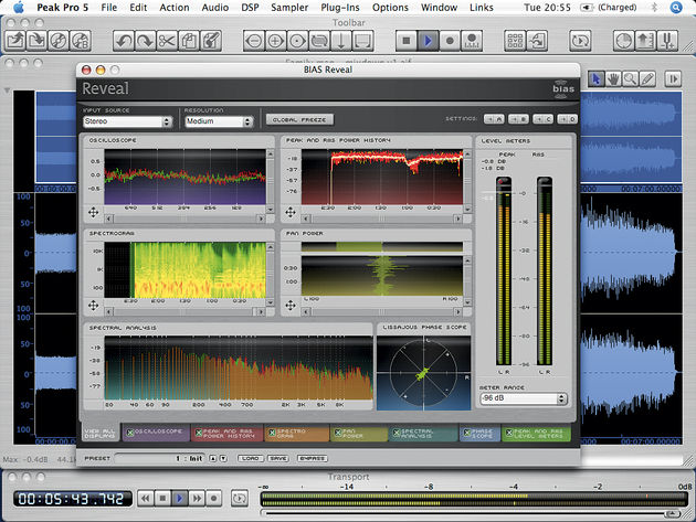 The Reveal plug-in comes as part of the Peak Pro XT 5 bundle.