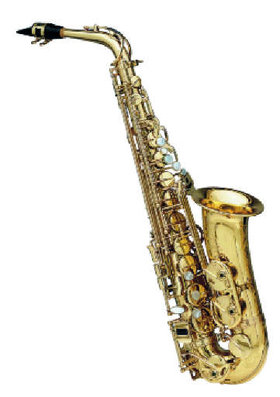 For sax, start of with the mic about a metre away and pointing at the centre of the instrument.