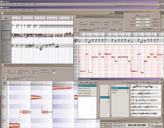 The Melodyne 3 interface.