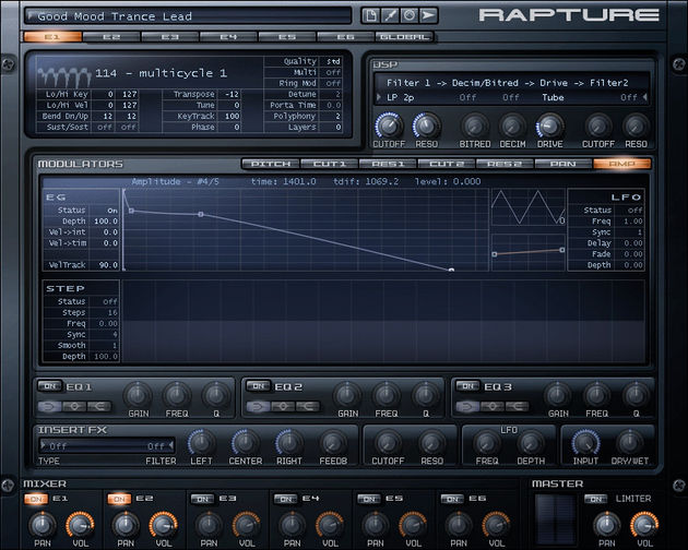 The Rapture harks back to the lush sounds of classic PCM units such as the Roland JD-800 and the Ensoniq VFX
