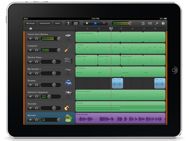 It looks like the Mac version, but GarageBand for iPad is a slightly different proposition.