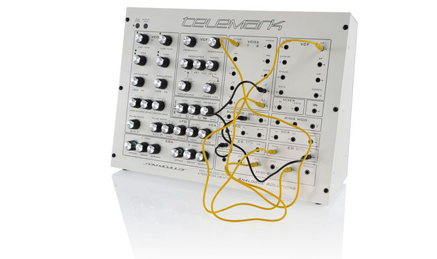 The patch panel on the right allows you to access pretty much all aspects of the synth in terms of control and routing