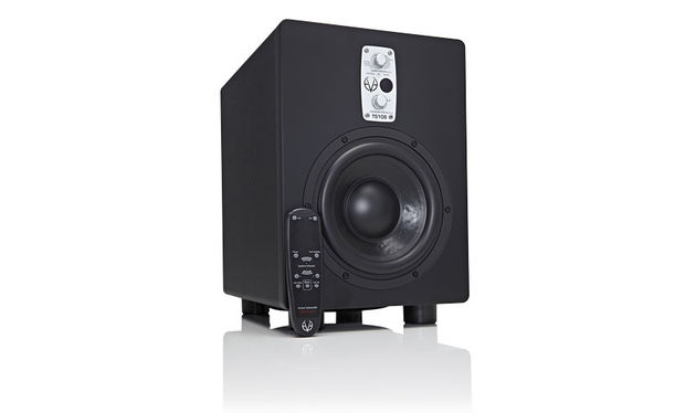 The TS108 uses a forward-facing 8-inch driver powered by a 150 Watt PWM amp