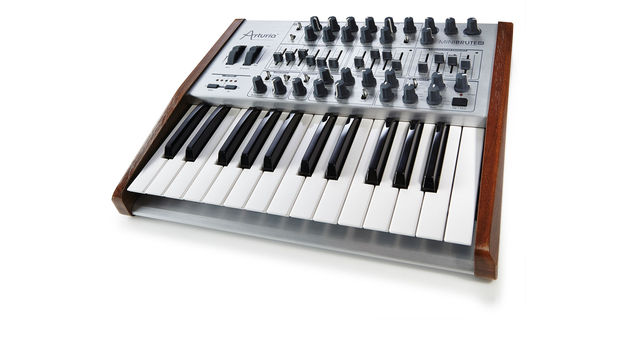 The most noticeable aspect of the new synth is its brushed aluminium front panel and wooden end cheeks