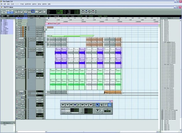 Pro Tools 7 looks similar to Version 6