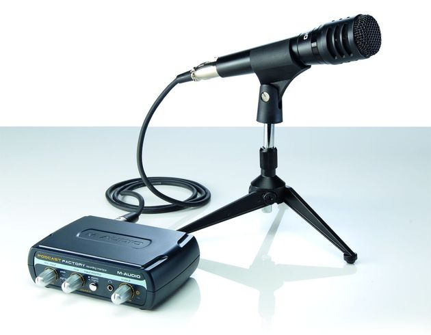 The package contains everything you need to get podcasting