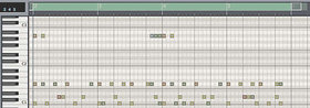 Fig1: Programmed drum pattern.