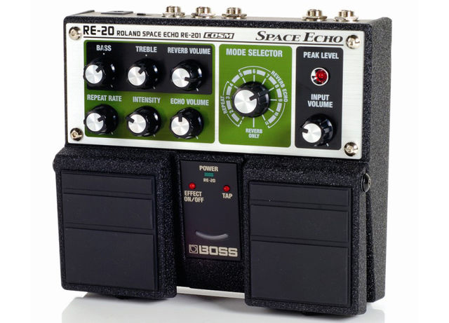 The RE-20 Space Echo recreates the sound of the tape-based Roland RE-201