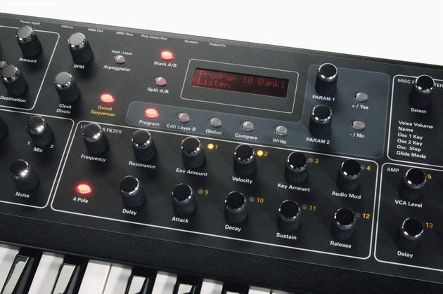 The Prophet '08 boasts and arpeggiator and a versatile sequencer