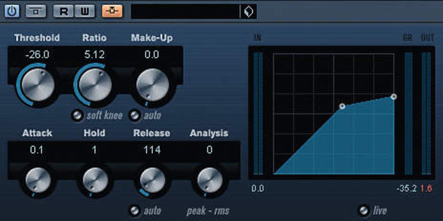 The VST3 compressor in sidechain mode.