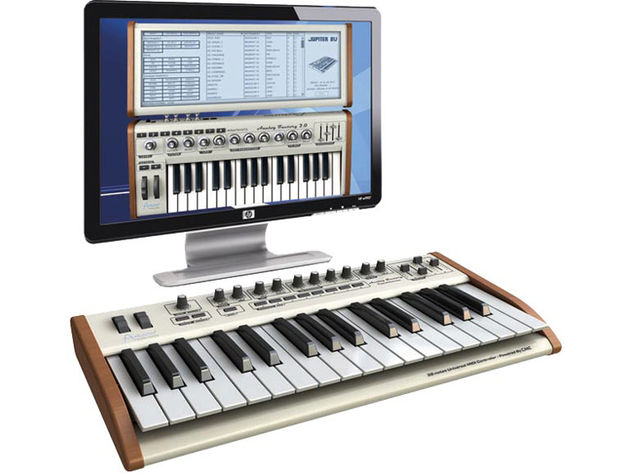 Arturia's Analog Factory Experience combines a virtual instrument and a MIDI controller keyboard.