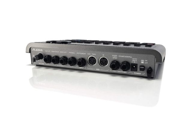 The addition of an instrument input means that the Aux outputs have been combined.