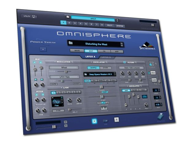 Omnisphere's interface makes the synth's power easy to control.
