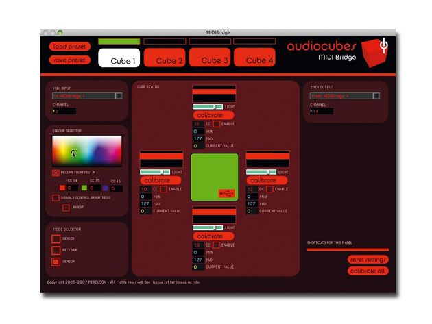 Setting up is done in the MIDIBridge software.