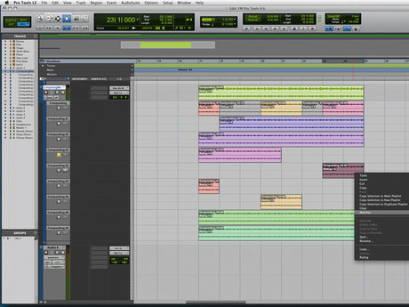 Pro tools 8 comping